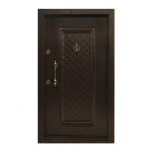 درب ضد سرقت روکش فلز قهوه ای کد 07
